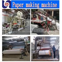 Hot selling zhengzhou guangmao 1880mm model 5-6ton per day ?toilet tissue paper making machinery,paper recycling machine price?