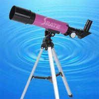 供应18x-90x彩色外观 简易型入门级 轻巧折射式天文望远镜F36050M