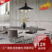 美式吊灯复古铁艺灯客厅餐厅卧室简约宜家时尚创意灯饰灯具批发