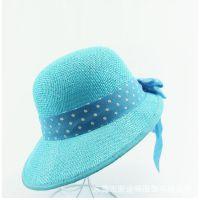日韩新款夏季淑女草帽时尚海边沙滩渡假太阳帽户外防晒遮阳旅游帽