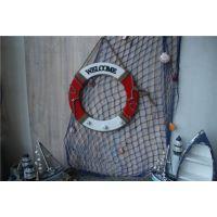 地中海风格救生圈工艺品 木质家饰装饰家居摆件挂件带挂钩