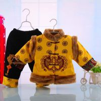 儿童唐装男宝宝唐装套装婴儿纯棉男童套装棉服新年保暖唐装5479