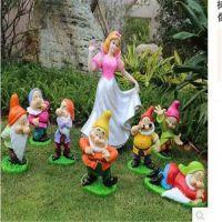 白雪公主与七个小矮人卡通动漫童话迪士尼树脂玻璃钢雕塑工艺摆件