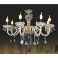 CVMA厂家直销 欧式优质客厅 酒店水晶灯6030C-8A白炽灯LED蜡烛客厅灯餐厅灯创意吊灯