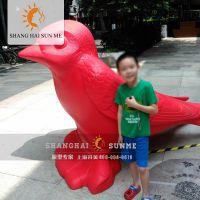 模型专家【上海升美】卡通动物玻璃钢狼模型雕塑蜗牛商场摆件定制