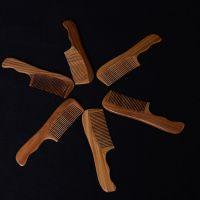 新款檀木美发梳子 高端时尚保健梳 木质工艺养发木梳子批发