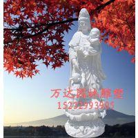 厂家专业制作石雕观音佛像 佛像定做 观音雕塑  大理石送子观音