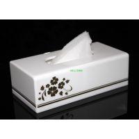 高档白色纸巾盒酒店办公居家抽纸盒亚克力纸巾盒餐厅KTV方形纸盒