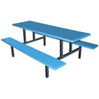 东莞樟木头户外玻璃钢餐桌生产厂家 六人位快餐桌椅批发 员工食堂餐桌