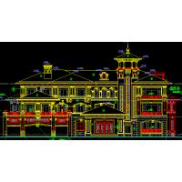 简欧式美观四层小型别墅全套施工图(含结构+水电38.5x27.1米