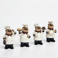 套四欧式厨师小摆件 时尚创意餐厅装饰 西餐厅装饰品摆件餐厅餐桌