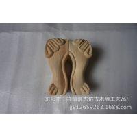 东阳木雕欧式实木、雕刻雕花家具腿沙发\腿柜、脚实木橡胶木桌脚