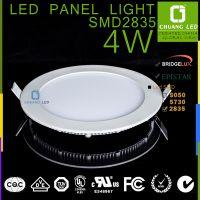 超薄led面板灯圆形 4w 2835芯片三菱导光板 OEM 专业只做面板灯
