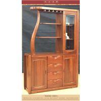 美希恩琥珀红金丝木现代中式实木间厅柜 酒柜隔断玄关家具