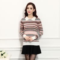 2014秋冬季新款时尚针织打底衫 翻领羊毛针织衫女式套头韩国毛衣
