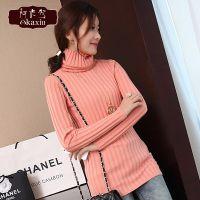2015秋冬新款韩版长袖打底衫高领弹力修身纯色针织衫女毛衣