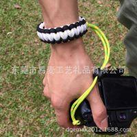 户外编织相机腕带 淘宝 速卖通 ebay 亚马逊供货商伞绳求生相机带
