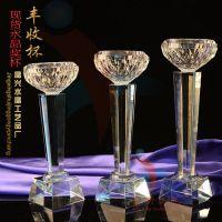 精兴工艺 水晶顶碗杯 广州特色文化奖杯 现货六角柱水晶