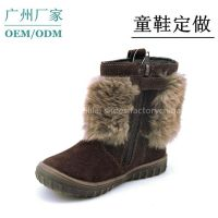 2014 Cool New Design Warm Winter Kids Boots For Boys Guangzhou Brand Factory