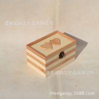 厂家优惠热销翻盖心连心珠宝首饰盒 高档精美木制饰品包装盒定做