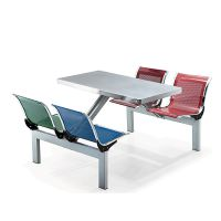 订做不锈钢快餐桌椅
