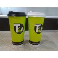 一次性奶茶杯批发600ml果汁杯咖啡纸杯