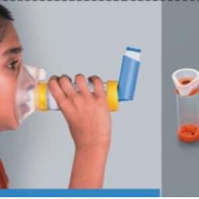儿童雾化罐/婴幼儿雾化罐/婴儿雾化罐/给药器/儿童储雾罐筒式吸舒
