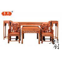 灵芝中堂厂家直销古典红木家具、全实木家具、东阳木雕