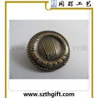 供应金属3D全立体徽章 锌合金压铸青古铜徽章定做 深圳同辉定做