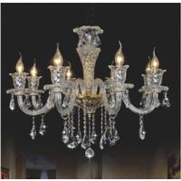 CVMA厂家直销 6019C-8A奢华欧式K9水晶蜡烛灯 客厅餐厅白炽灯卧室吊灯 酒店客房灯 吧台灯