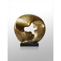 洒满金箔透明雕塑摆件 碎金箔透明的琥珀色雕塑 透明树脂雕塑 软装配饰酒店摆件
