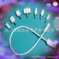 (热买中)移动电源标配8大品牌成型迷你黑/白手机转接头