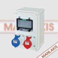 厂家直供 优质电表箱 低压配电箱 MX-XZS3-3002 防水防爆工业插座