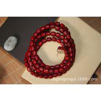 红酸枝 女士红木 手串 桶珠