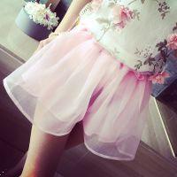 小银子2015夏装新款气质蓬蓬纱显瘦松紧腰宽松短裤女K4326