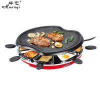 环艺苹果形家用电烧烤炉9091新款韩式烧烤炉大号铁板烧电烤炉