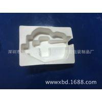 游戏鼠标白色湿压纸托,生物淀粉湿压工艺,东莞纸塑包装生产厂家