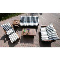洛佳豪华大型户外家具实木金丝柚桌椅成套