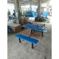 定制学校部队员工食堂餐桌学生四人位餐桌椅 简约现代玻璃钢餐桌 向上玻璃钢供应