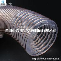 进口6寸木工机械吸尘软管,CNC雕刻机软管,pu钢丝伸缩管
