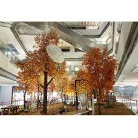 仿真枫树 商场枫树主题造景 美陈枫树 室内仿真树工程