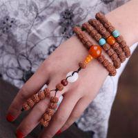 智麒麟尼泊尔5瓣小金刚菩提子手链108藏式绿松石手串饰品批发