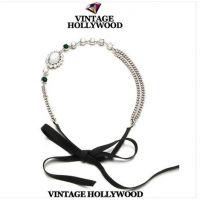 来自星星的你!VINTAGE HOLLYWOOD宝石多元素闪耀发带项链