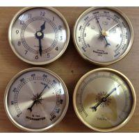供70mm指针式机械式温度计湿度表气压计表时间礼品表
