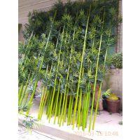 仿真竹子 酒店餐厅装饰隔断屏风竹子 2-3cm直径真杆竹子