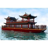 14米双层画舫船 景区旅游船 电动餐饮船 画舫木船 湖面观光船