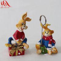 库存树脂工艺品批发 创意家居摆挂件 可爱卡通小兔子挂件装饰 024