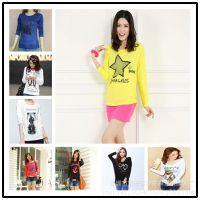 秋季新款韩版外贸女装打底衫 便宜纯棉长袖女式T恤地摊夜市好货