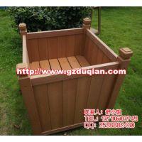 塑木花槽,移动树箱,公园花钵,楼盘环保木花盆组合