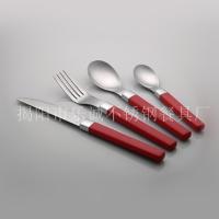 塑料手柄餐具套装 乐诚餐具刀叉勺西餐具24件套